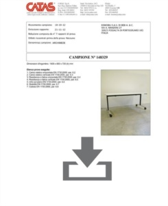 Certificate CATAS EN 1730 Archimede