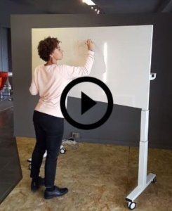 Telemaco table with writable top