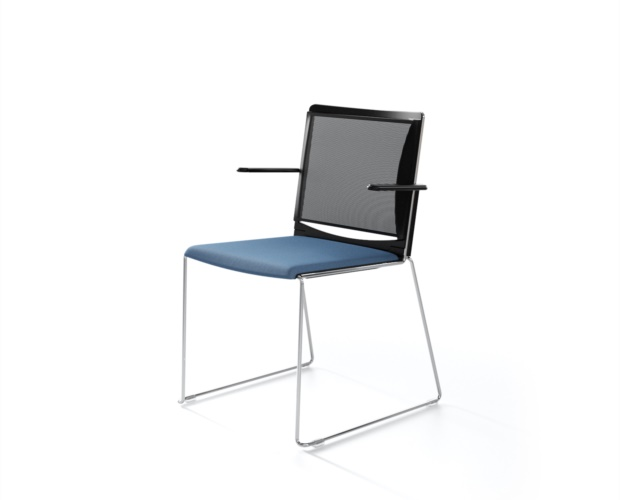 Conference chair and waiting chair Multi with mesh backrest