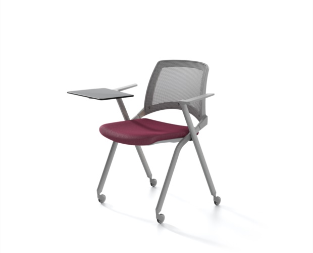 Tip up seat conference chair Oplà Mesh with mesh backrest